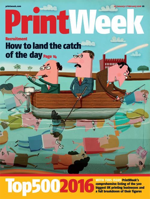 Cameron Law , Print week cover