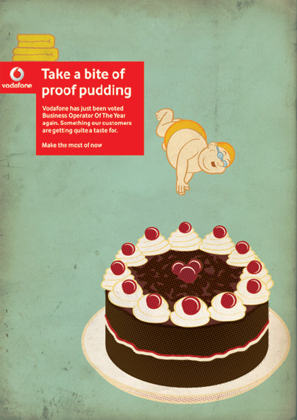 Proof Pudding - Vodafone Press Ad